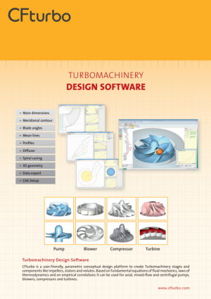 CFturbo: Important Software Functions