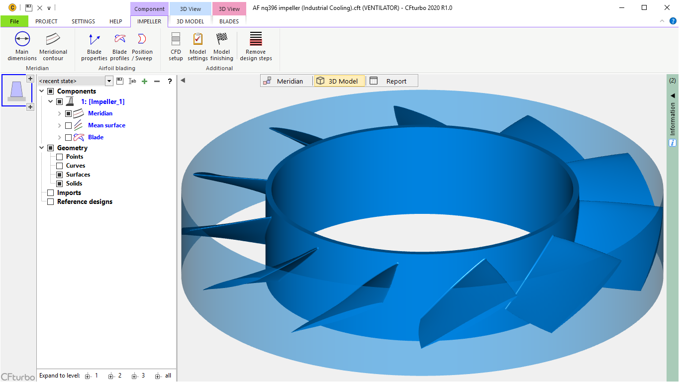 Software For The Design Of Fans Blowers